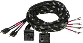 Gladen Audio Plug&Play Kabelbaum für RS, XL und SPL Verstärker 2,5m Quadlock 4-Kanal